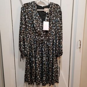 Gal meets glam hope satinique floral dress size 4
